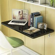 black wall mount floating folding