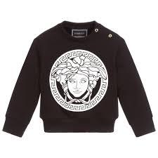 Young Versace Size Chart Young Baby Medusa Logo Sweatshirt
