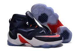 lebron james shoes white and red. mens nike lebron james 13 basketball shoes red blue white and d