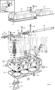 Volvo Penta Exploded view / schematic Cylinder Head TWD740GE ...