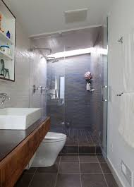 ... Narrow Bathroom Design Of Good Ideas About Long On Best Stylish And  Peaceful Narrow Bathroom Design