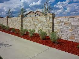 stonetree concrete fence walls