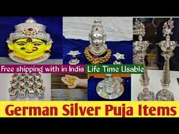 german silver puja items