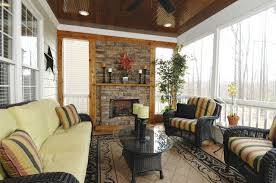 Sunroom With Fireplace Designs Furniture Fetching Images Of Sunrooms With Fireplace Decoration