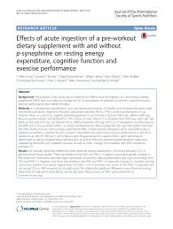 pdf the effects of supplementation with p synephrine alone and in bination with caffeine on resistance exercise performance