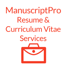 Resume And Curriculum Vitae Services | Manuscriptpro Proofreading ...