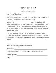 Peer To Peer Parent Letter Elementary And Middle School