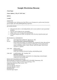 Electrician Job Description For Resume Apprenticeship Electrician Resume For Jobs Applying Electrical 21