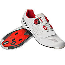 Scott Shoes Size Chart Scott M Road Vertec Boa Shoe White Red