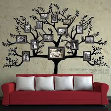tree photo collage wall art modern family tree wall decal sticker picture frame tree branch ideas