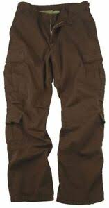 Rothco Pants Size Chart Details About Brown Vintage Military Paratrooper Tactical Bdu Fatigue Pants Rothco 2562