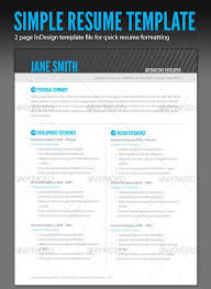 Adobe Indesign Resume Template From Gallery Of Indesign Resume