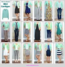 2014 in review - outfit posts: mint cardigan - 17 ways (Outfit Posts)