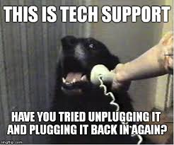 dog tech support. this is tech support dog i