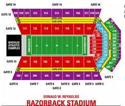 Razorback Football Stadium Seating Chart M Aggies Football Tickets True Arkansas Razorback Football