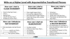 Transitional Words For Argumentative Essay Argumentative Writing Transitional Phrases
