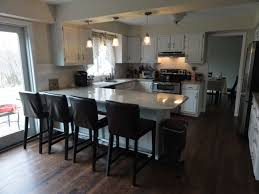 Two Level Kitchen Island Ideas Extraordinary Square Kitchen Island With Seating And Two