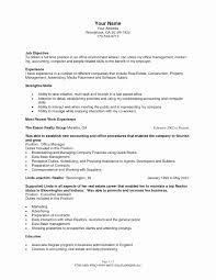 Construction Office Manager Resume Fresh Assistant Front Fice ...
