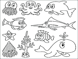 Ocean Sea Life Coloring Pages Marine Life Coloring Pages Marine Life