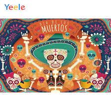 <b>Yeele</b> Dia DE Muertos Mexico Day of The Dead Backdrop Dress up ...