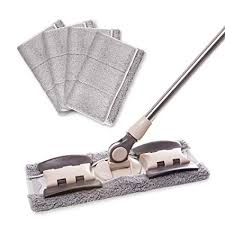 mayshine microfiber hardwood floor dust mop 5 washable reusable flat mops cloths pads