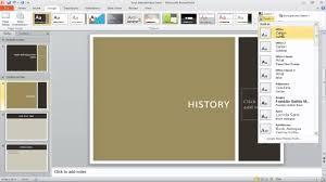Retrospect Theme Powerpoint 2010 How To Apply A Theme To Powerpoint Presentation Youtube