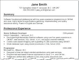 Examples Of Resume Formats Sarahepps Com