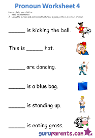 Pronoun Worksheets | guruparents