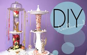 Diy Necklace Holder Diy Necklace And Jewelry Display Spinning Stand How To Make