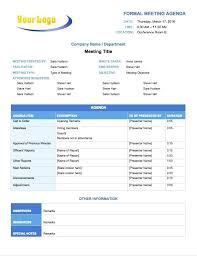 Meeting Agenda Perfect Template Samples Of For Company School And ...