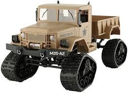 Child Remote control car <b>Military truck</b> Toy Model Four-<b>wheel</b> drive ...