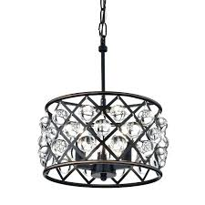 oil rubbed bronze chandelier 4 light crystal small