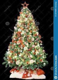 Vintage White Christmas Tree Lights Modern Christmas Tree Decorated With Vintage Ornaments