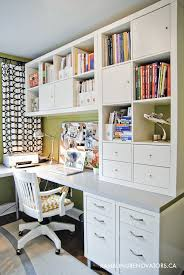 organizing a built in office ikea