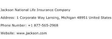 Jnam is an affiliate of jackson national life distributors llc, and jackson national life insurance company. Jackson National Life Insurance Company Address Contact Number Of Jackson National Life Insurance Company