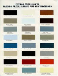 Ford Falcon Colour Chart 1966 Socal Galaxie Club