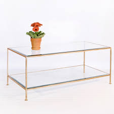 gold glass coffee table for living room furniture