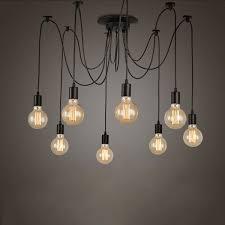 diy light bulb chandelier s retro edison bulb light chandelier vintage loft adjule diy e27