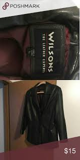 wilson s leather black coat size large womens wilsons leather jackets coats