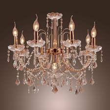 lightinthebox elegant candle style crystal chandelier with 9 lights