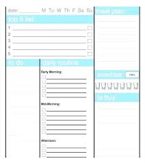 Medium Size Of Template Download Daily Schedule Planner