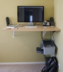 diy desk itself building ideas solid wood panels on the wall mounted