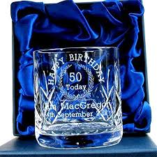 50th birthday whisky gl for him personalised 50th birthday gifts for him