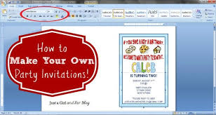 Make Your Invitation How To Make Your Own Party Invitations Create Birthday