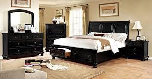 transitional bedroom furniture. Simple Furniture Castor Collection Transitional Bedroom Furniture 4pc Set Black Queen Size  Bed Dresser Mirror Nightstand Storage Bedframe In I
