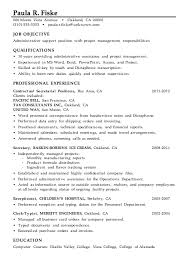 Examples Of Administrative Resumes Enchanting Resume Sample Administrative Support Project Management
