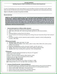 Unique Qa Qc Inspector Resume Sample Foodcity Image Hrt Image Of Gorgeous Mechanical Inspector Resume