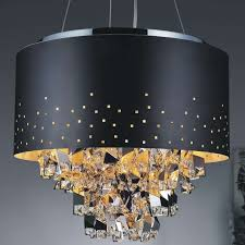 interior amusing black shade chandelier 7 ocean wave glow shaded flush mount 617em44sp