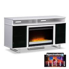 entertainment furniture pacer 56 contemporary fireplace tv stand white