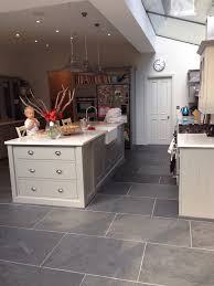 Slate Floor Tile Kitchen Love The Floor Island Cabinet Style Ceilings Similar To Our
